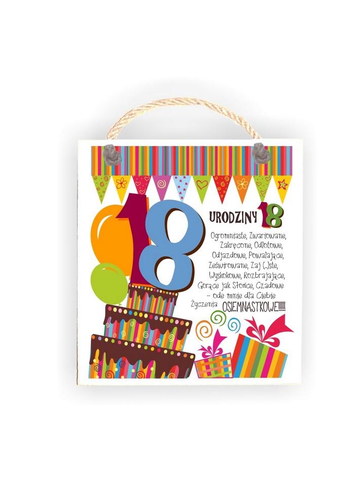 Tabliczka 05 18 Urodziny Tc 05 882 Donaco Producent Ozdob Drewnianych